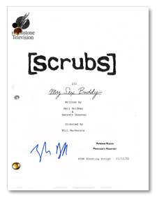scrubs my sex buddy tv signed script