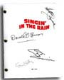 singing in the rain signed script