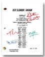 spider-man signed script