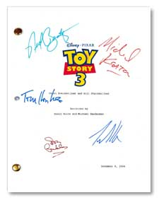 toy story 3 signed script